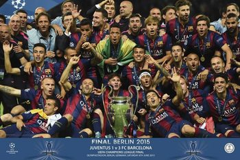 Poster FC Barcelona – Champions equipo 2015