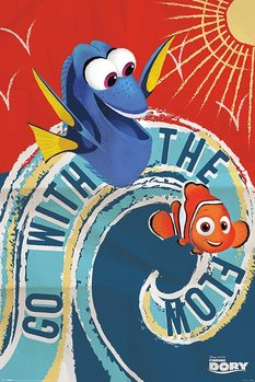 Poster Finding Dory - Go With The Flow