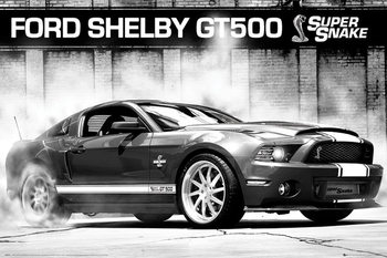 Ford Shelby GT500 - supersnake Poster, Art Print