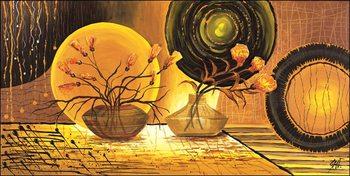 Golden Beam Art Print