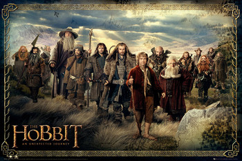 HOBBIT - cast Poster, Art Print