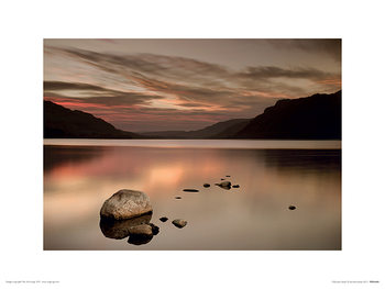 Ian Winstanley - Ullswater Rocks Art Print