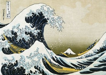 Pôster KACUŠIKA HOKUSAI  - The Great Wave off Kanagawa