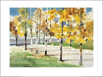 Law Wai Hin - Autumn Trees Art Print