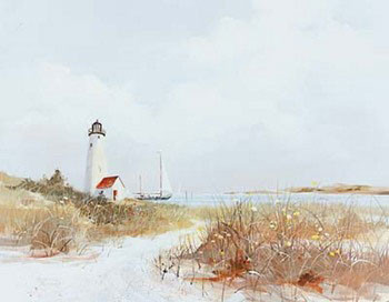 Lighthouse Channel Art Print
