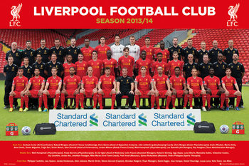 Liverpool FC - Team Photo 13/14 Poster, Art Print