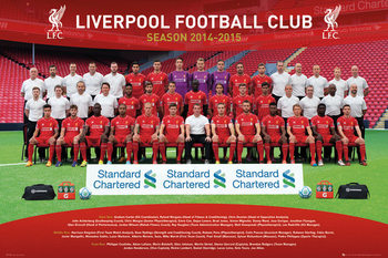 Liverpool FC - Team Photo 14/15 Poster, Art Print
