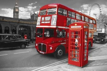 London - bus Poster, Art Print