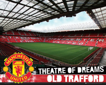 Manchester United FC - Inside Old Trafford S.O.S Poster, Art Print
