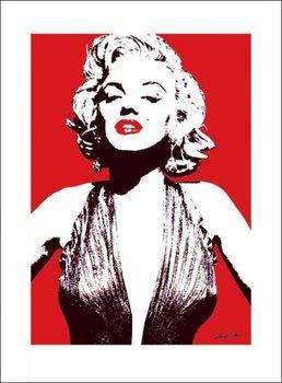 Marilyn Monroe - Red Art Print