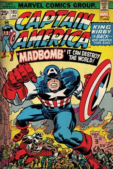 Marvel Retro - Captain America - Madbomb Poster