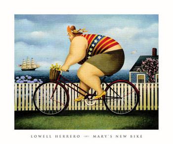 Mary\'s New Bike Art Print