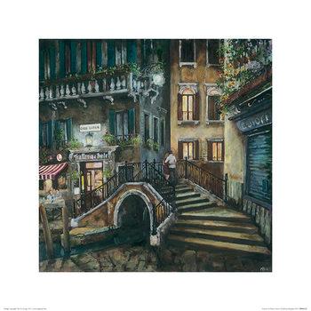 Melissa Sturgeon - Trattoria al Ponte, Venice Art Print