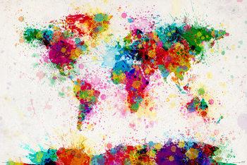 Michael Tompsett - World map Poster