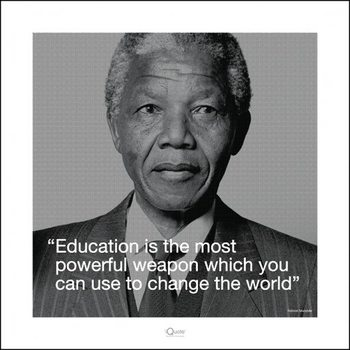 Nelson Mandela - Quote Art Print