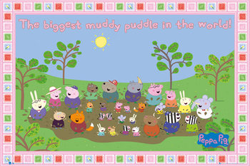 PEPPA PIG - muddy puddle Poster, Art Print