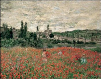 Poppy Field Near Vetheuil Art Print
