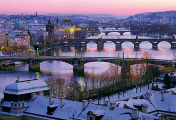 Prague – Prague bridges Poster, Art Print