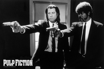 Pulp fiction - guns Poster, Art Print