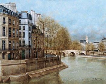 Quai d' Anjou Art Print