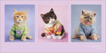 Rachael Hale - Kitty Couture Art Print