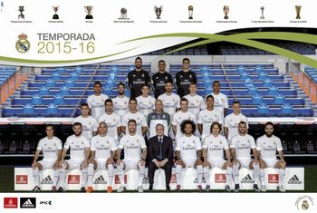 Pôster Real Madrid 2015/2016 - Plantilla