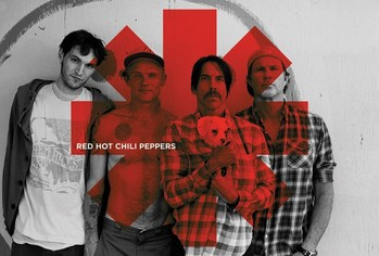Red hot chilli peppers - Red asterix Poster, Art Print