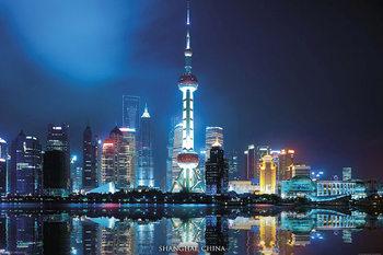 Shanghai Skyline - China Poster