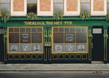 Sherlock Holmes Pub Art Print