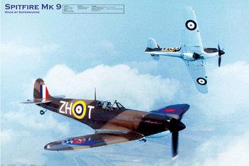Pôster Spitfire MK9 - airplane