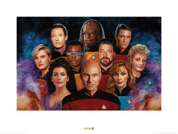 Star Trek - The Next Generation - 50th Anniversary Art Print