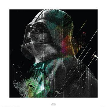 Star Wars Rogue One - Darth Vader Lines Art Print