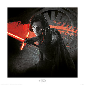 Star Wars The Last Jedi - Kylo Ren Force Art Print