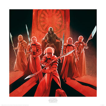 Star Wars The Last Jedi - Snoke & Elite Guards Art Print