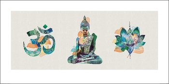 Summer Thornton - Yoga Triptych Art Print