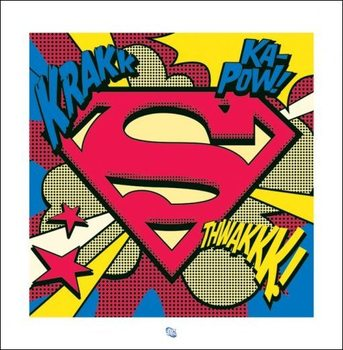 Superman - Pop Art Shield Art Print