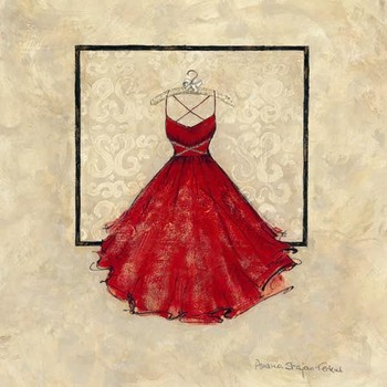 TAKE ME DANCING II - red Art Print