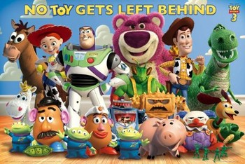 TOY STORY 3 - cast Poster, Art Print