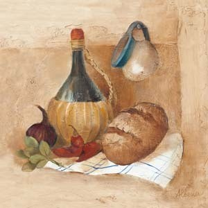 TUSCAN TABLE II Art Print
