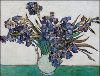 Vase with Irises, 1890 Art Print
