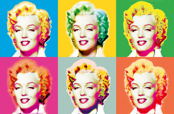 VISIONS OF MARILYN Poster, Art Print