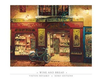 Wine and Bread Art Print