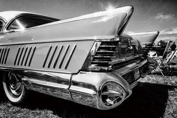 Quadro em vidro Cars - Black and White Cadillac