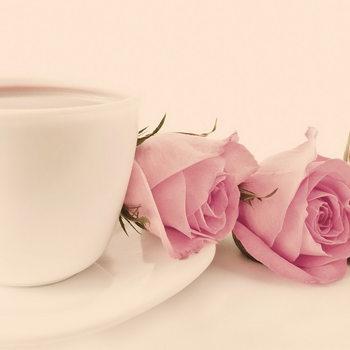 Quadro em vidro Pink Roses