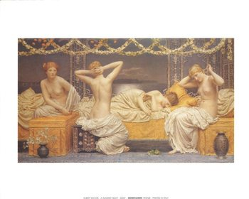 Reprodução do quadro A Summer Night, 1890