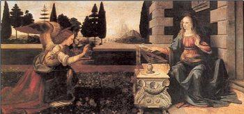 Reprodução do quadro Annunciation