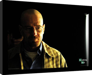 BREAKING BAD - walter shadowy Poster Emoldurado