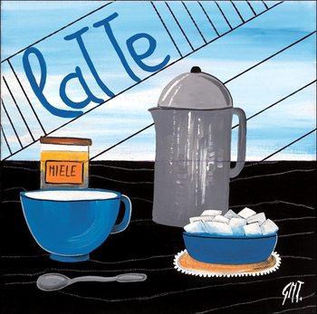 Reprodução do quadro Caffè latte