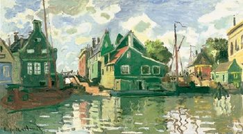 Reprodução do quadro Canal in Zaandam, 1871