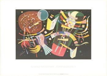 Reprodução do quadro Composition X